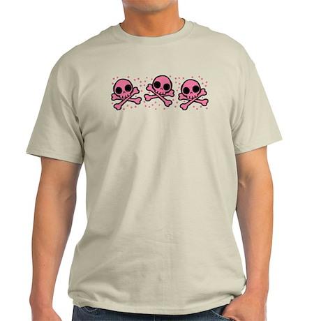 Cute Pink Skulls And Crossbones Light T-Shirt