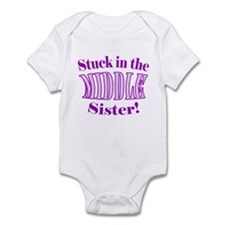 Middle Sister Stuck Purple Infant Bodysuit