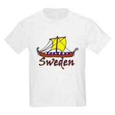 Swedish Long Boat Kids T-Shirt