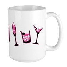 Pink Skull Cocktails Mug