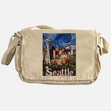 Seattle Skyline Messenger Bag