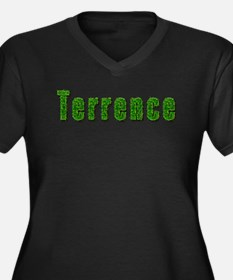 Terrence Grass Women's Plus Size V-Neck Dark T-Shi