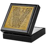Celtic Letter V Keepsake Box