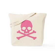 Pink Skull And Crossbones Tote Bag