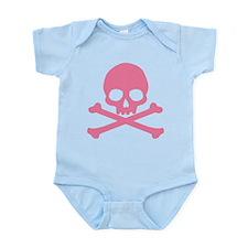 Pink Skull And Crossbones Infant Bodysuit