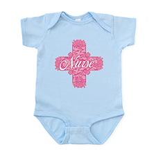 Pink Nurse Lacy Cross Infant Bodysuit