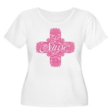 Pink Nurse Lacy Cross T-Shirt