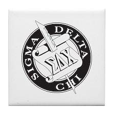 Sigma Delta Chi Tile Coaster