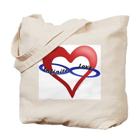 Infinite Love curved text Tote Bag