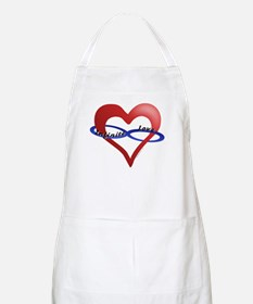 Infinite Love curved text BBQ Apron