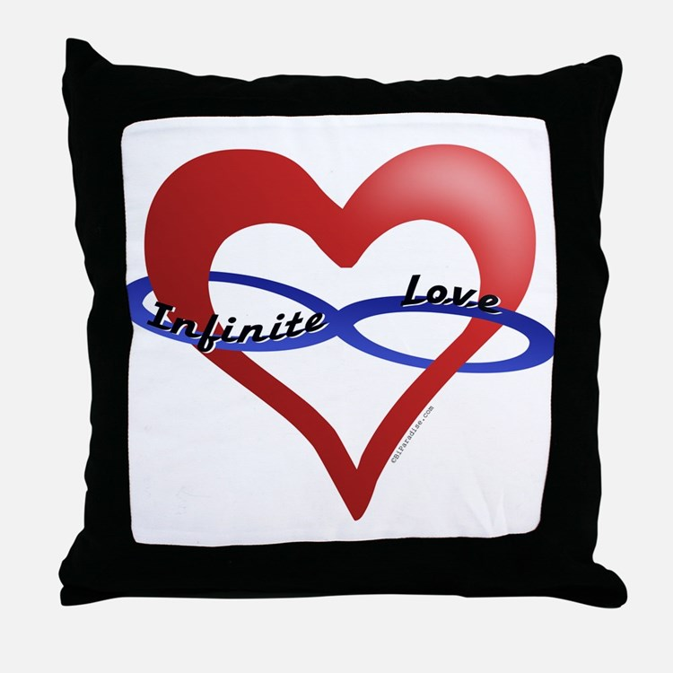Infinite Love curved text Throw Pillow