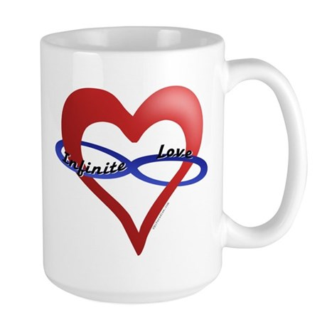 Infinite Love curved text Large Mug
