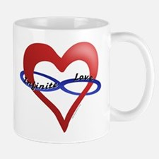 Infinite Love curved text Mug