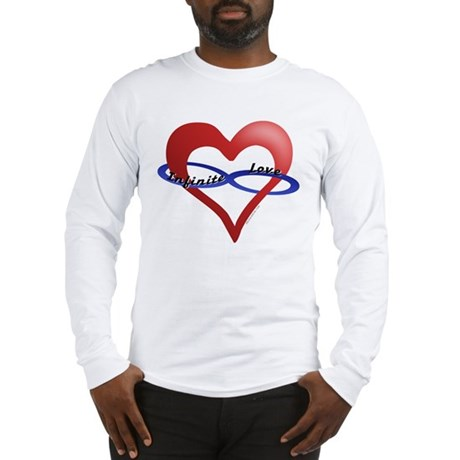 Infinite Love curved text Long Sleeve T-Shirt