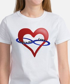 Infinite Love curved text Women's T-Shirt