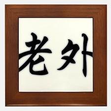 Laowai (Foreigner in Mandarin Chinese) Framed Tile