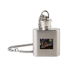 Seattle Starry Night Flask Necklace