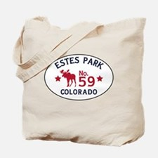 Estes Park Moose Badge Tote Bag