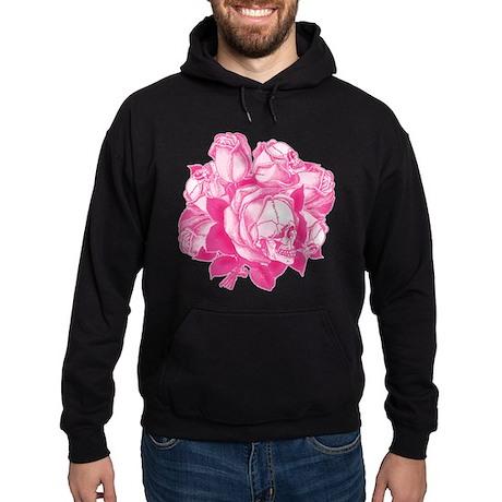 Pink Skull Roses Hoodie (dark)
