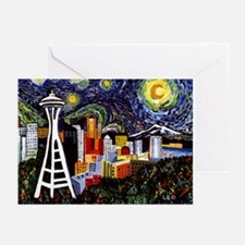 Seattle Starry Night Greeting Cards (Pk of 20)