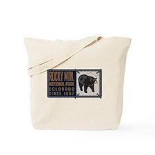 Rocky Mountain Black Bear Badge Tote Bag