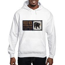 Rocky Mountain Black Bear Badge Hoodie Sweatshirt