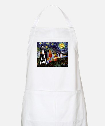 Seattle Starry Night Apron