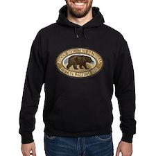 Rocky Mountain Brown Bear Badge Hoodie
