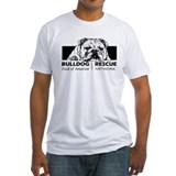 Bulldog rescue Fitted Light T-Shirts