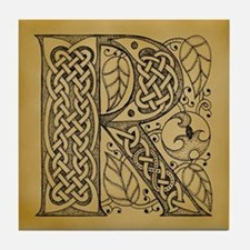 Celtic Letter R Tile Coaster