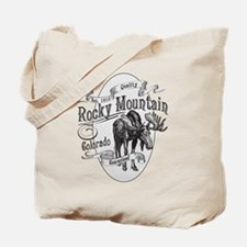 Rocky Mountain Vintage Moose Tote Bag