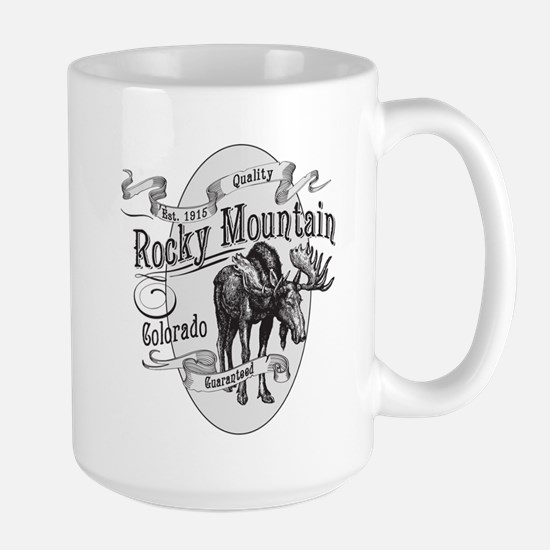 Rocky Mountain Vintage Moose Large Mug
