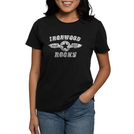 IRONWOOD ROCKS Women's Dark T-Shirt