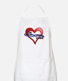 One Heart BBQ Apron