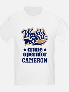 Crane Operator Personalized Gift T-Shirt
