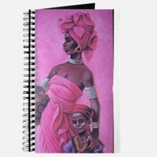 Cute African woman and child Journal