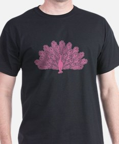 Gothic Pink Peacock T-Shirt