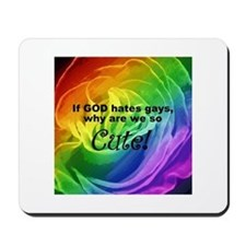 So Cute Rainbow Rose Mousepad