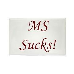 MS multiple sclerosis Sucks! Rectangle Magnet (10