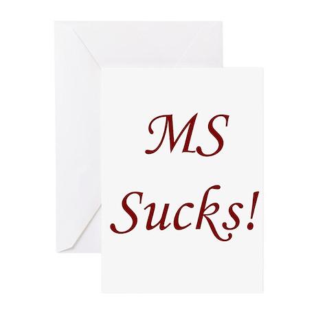 MS multiple sclerosis Sucks! Greeting Cards (Packa