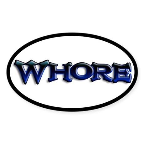 Whore Goth Oval Sticker