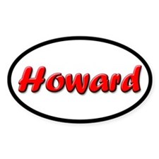 Red Howard Oval Decal