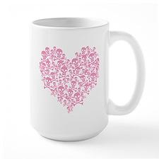 Pink Skull Heart Mug