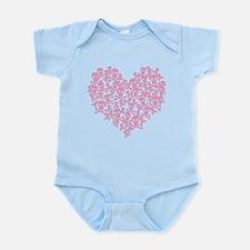Pink Skull Heart Infant Bodysuit