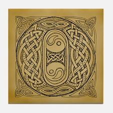 Celtic Letter O Tile Coaster