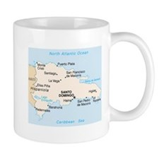 Dominican Republic Map Coffee Small Mug