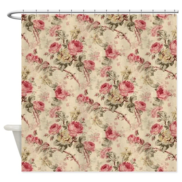 Flower shower curtains