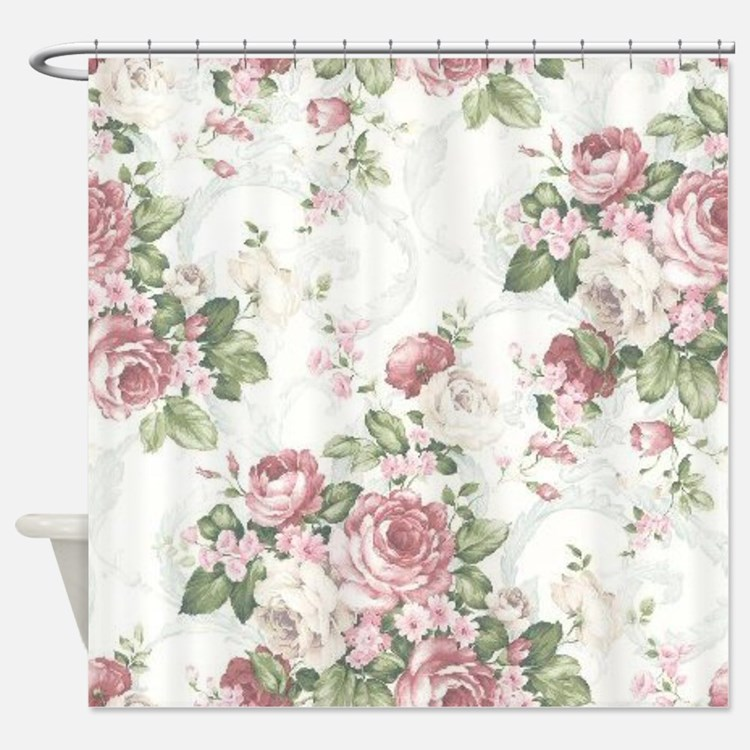 Victorian Rose Shower Curtains Victorian Rose Fabric