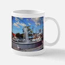 Water Fountain Seagulls Mug