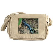 Blue Salamander Messenger Bag